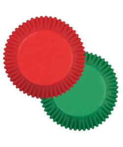 muffinsform rød og grøn