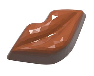 chokoladeform læber