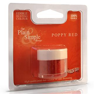 Poppy rød pulver farve