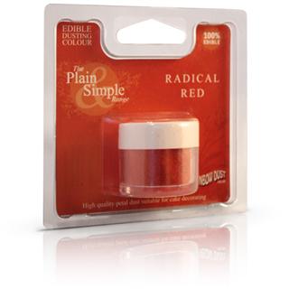 radical rød pulver farve