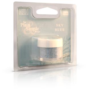 Sky blå pulver farve